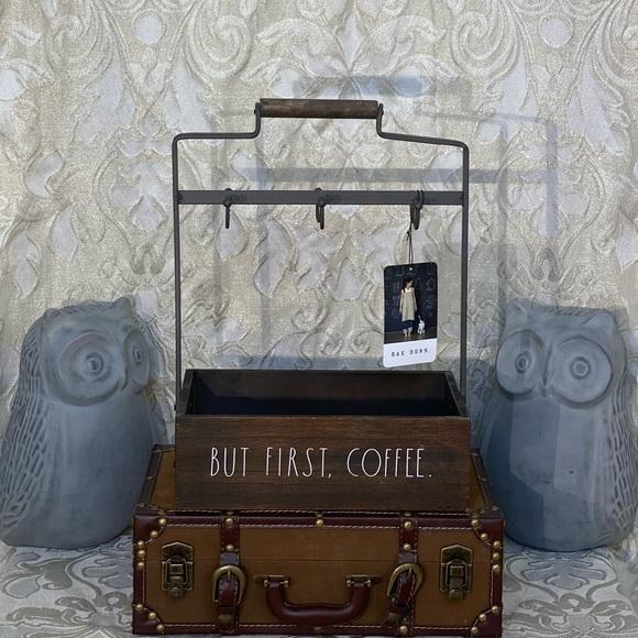 "Rae Dunn ""BUT FIRST COFFEE"" Mug Rack"